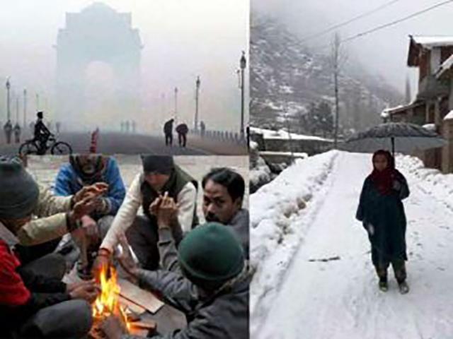 देश में जानलेवा ठंड का कहर, दिल्ली-एनसीआर में कोहरे से गाड़ियां रेंगने को मजबूर