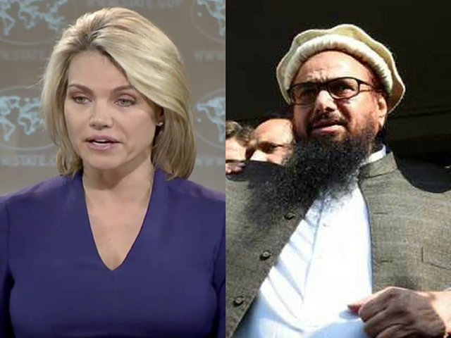 हम हाफिज सईद को आतंकवादीके तौर पर देखते हैं- अमेरिका