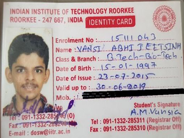 आईआईटी रुड़की में गुजरात के छात्र ने की खुदकुशी,हॉस्टल के कमरे में पंखे से लटकता हुआ मिला शव
