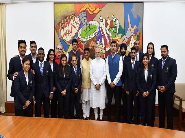 CWG 2018 में पदक जीतने वाले टेबल टेनिस खिलाड़ियों से मिले प्रधानमंत्री मोदी